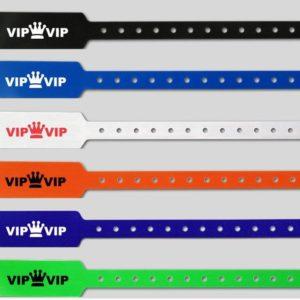 Identbänder Kunststoff breit mit Druck