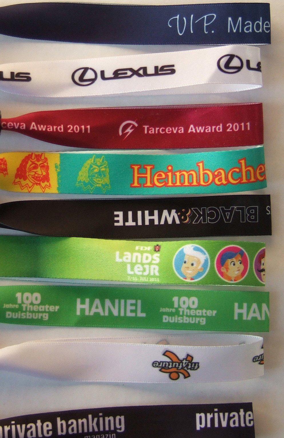 Eintrittsbändchen mit Druck Event Einlassbänder 1000 Eintrittsbänder bedruckt