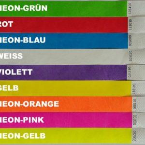Tyvek Kontrollbänder breit (1 Zoll = 2,5 cm)