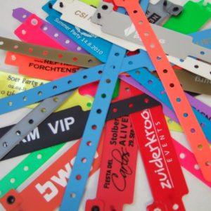 Eintrittsbänder Vinyl mit Druck