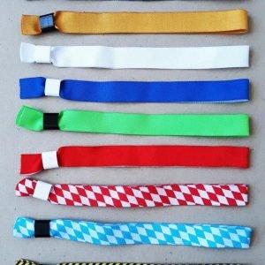 Festivalbänder einfarbig ohne Druck