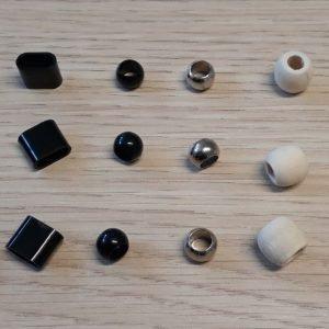 Verschlüsse für Stoffbänder wiederverschließbar