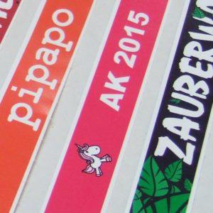 Tyvek Papier Bänder vollfarbig bedruckt 4C